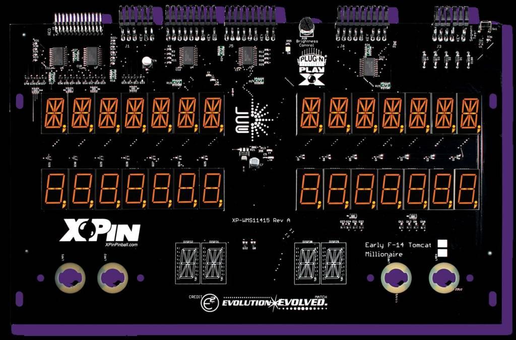 Williams 7-Digit Display XP-WMS11415-F