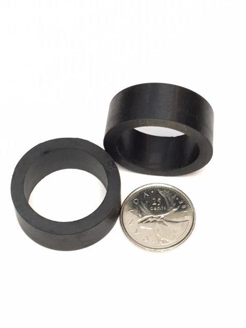 "1"" Mini Black Flipper Rubber"