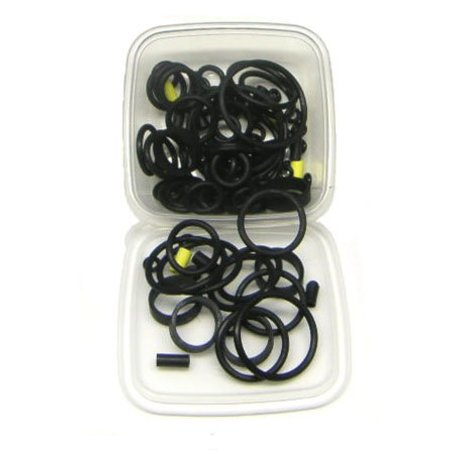 125-Piece Black Rubber Ring Set
