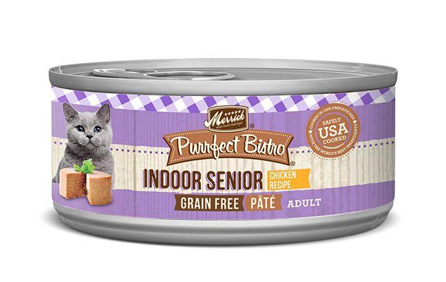 MERRICK Merrick Purrfect Bistro Cat Indoor Senior Pate 3 oz Can
