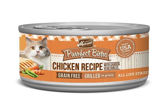 MERRICK Merrick Purrfect Bistro Cat Grilled Chicken & Veggies 5.5 oz Can