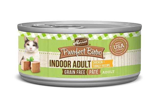 MERRICK Merrick Purrfect Bistro Cat Indoor Adult Ckn Pate 3 oz Can