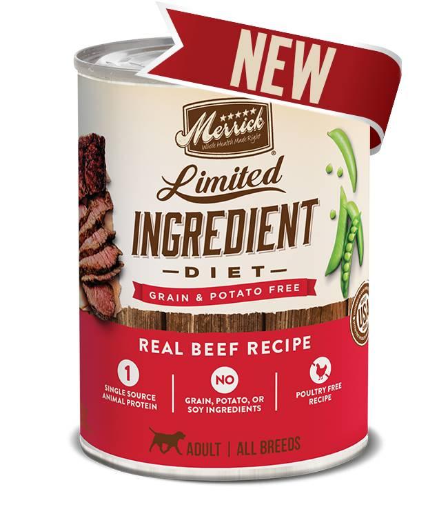 MERRICK Merrick Limited Ingredient Diet Grain-Free Beef 12.7 oz Can