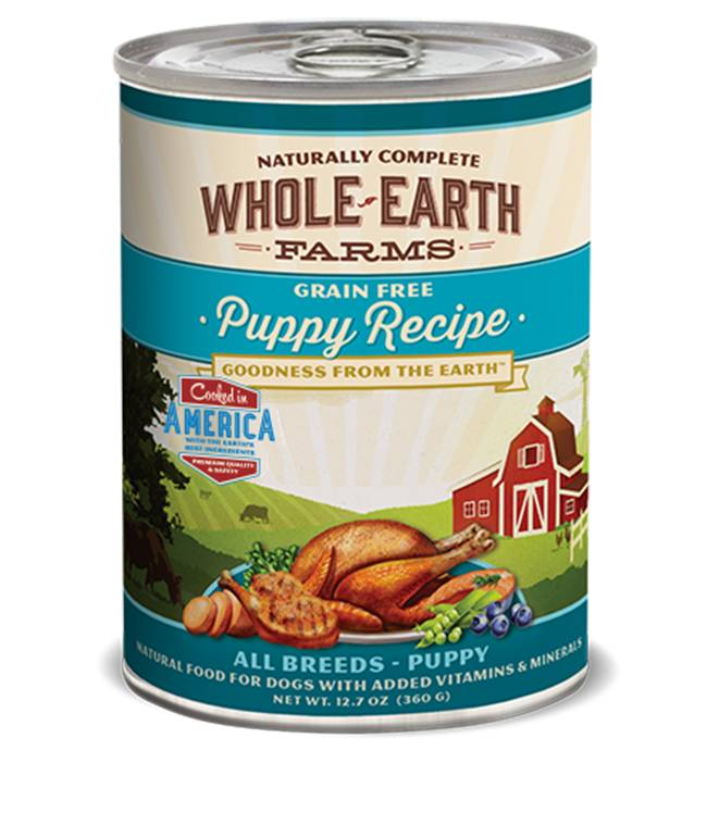 WHOLE EARTH FARMS Merrick Whole Earth Farms Puppy 12.7 oz Can