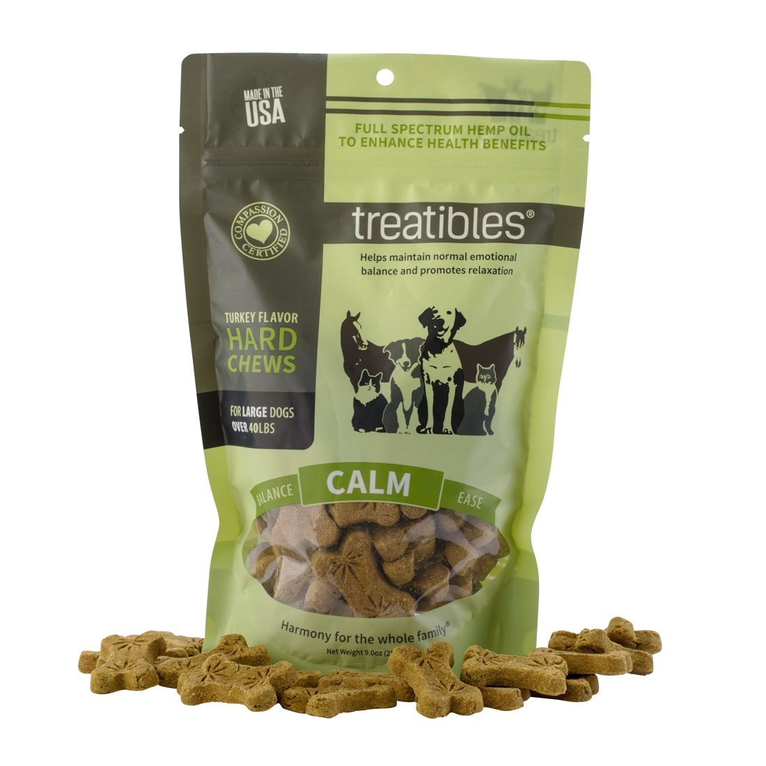 Treatibles Treatibles Hard Chews -  6oz Large Turkey