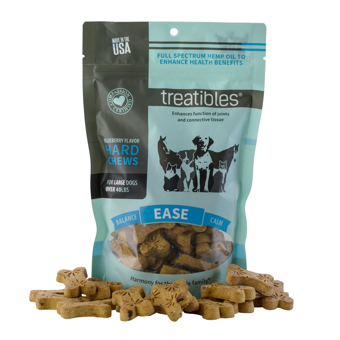 Treatibles Treatibles Hard Chews Intro - 1oz Sml/Med Blueberry