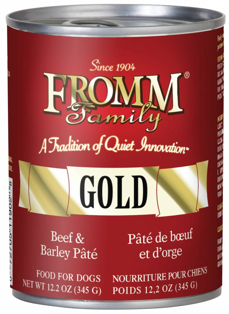 FROMM Fromm Gold Pate Beef and Barley 12.2oz