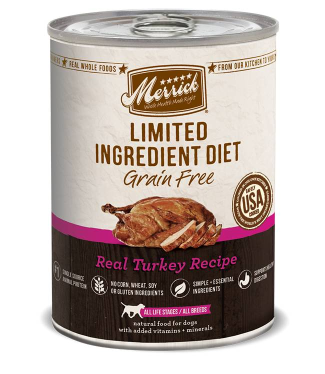 MERRICK Merrick Limited Ingredient Diet Grain-Free Turkey 12.7 oz Can