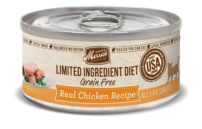 MERRICK Merrick Cat Limited Ingredient Diet Grain-Free Chicken 5.5 oz Can