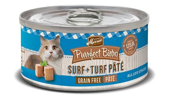 MERRICK Merrick Purrfect Bistro Cat Surf N Turf Pate 3 oz Can