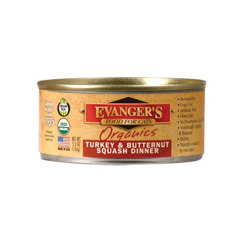 EVANGERS Evangers Cat Organic Turkey/Squash Dinner 5.5Z Can