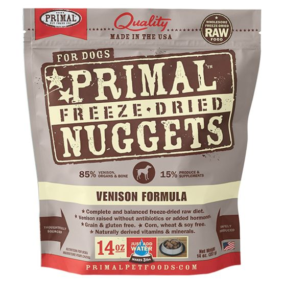 PRIMAL Primal Cat Freeze Dried Nuggets Venison 5.5OZ