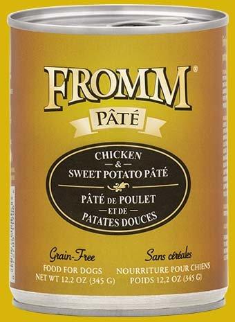 FROMM Fromm Grain Free Pate 12.2OZ Chicken & Sweet Potato