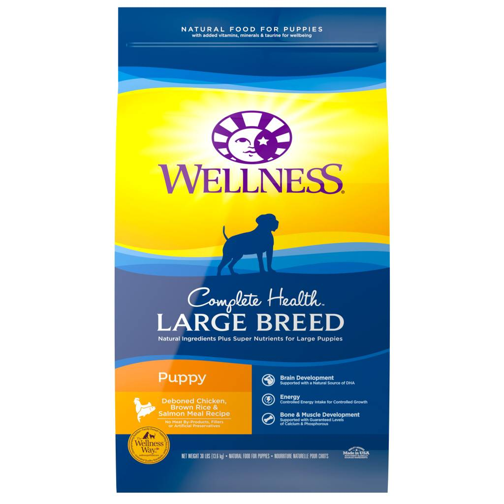 WELLNESS Wellpet Complete Health Large Breed Chicken -  Puppy 30lb