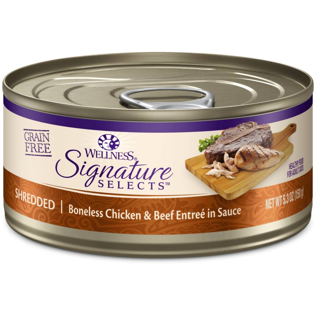 Wellpet Wellpet Cat Signature Select Shredded Chicken and Beef  5.3oz