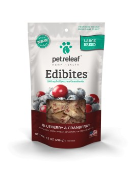 Pet Releaf Pet Releaf Edibites Large Breed 7.5 oz -