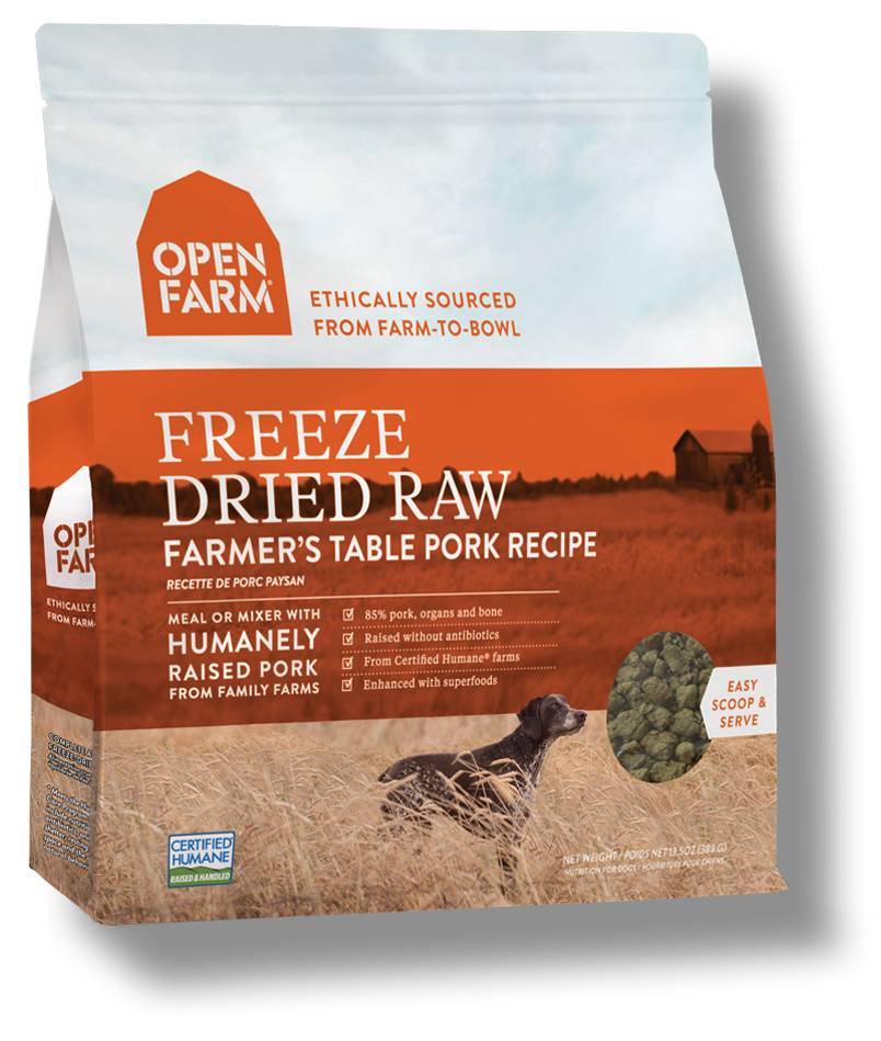 Open Farm Open Farm Freeze Dried Raw Farmers Table Pork 13.5 oz