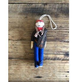 Silk Road Bazaar Willie Nelson Ornament