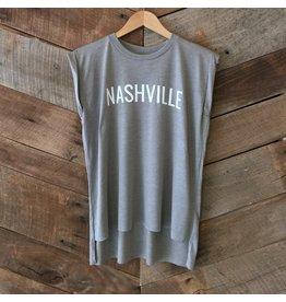 Stone Nashville Roll Sleeve Tee