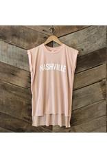 Peach Nashville Roll Sleeve Tee