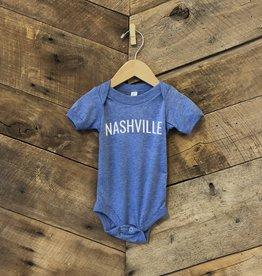 Blue Triblend Nashville Onesie