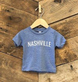 Blue Nashville Baby Tee