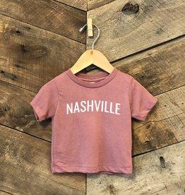 Mauve Nashville Baby Tee