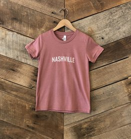 Mauve Nashville Youth Tee