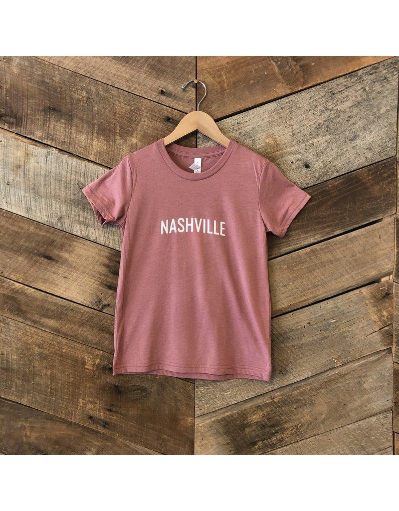 Mauve Nashville Youth Tee