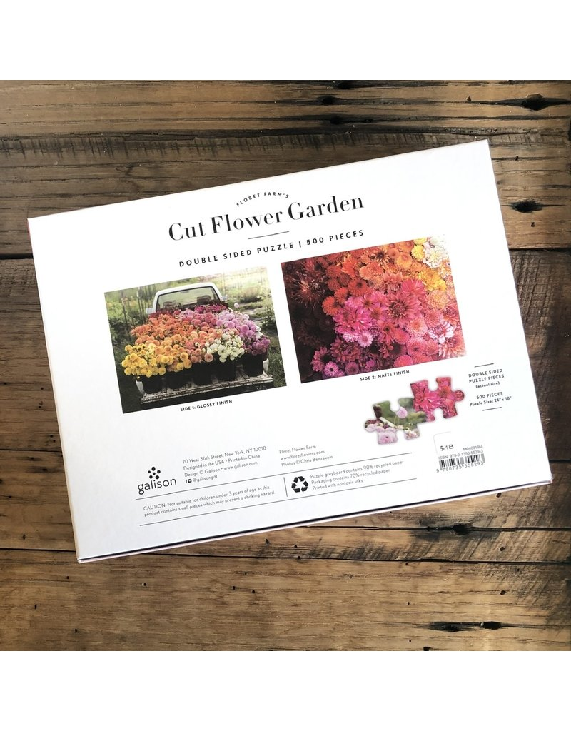 Cut Flower Garden 2 Sided Puzzle