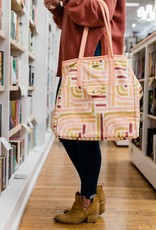 Sunset Stripe Canvas Tote
