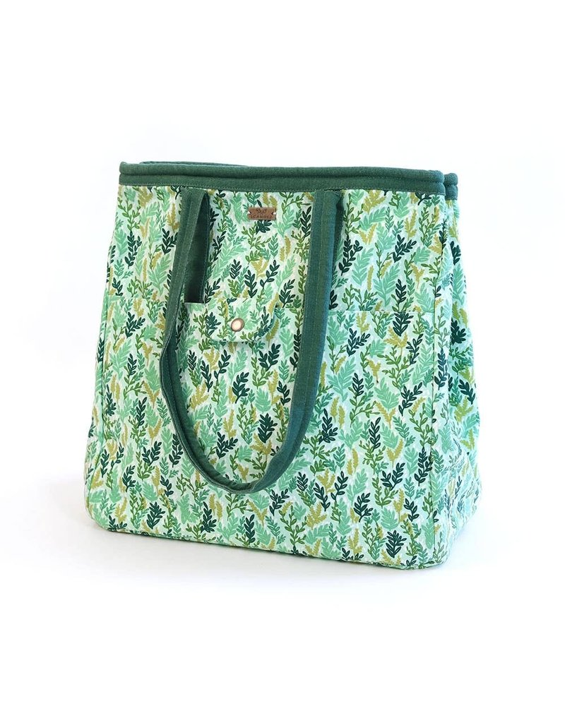 Mint Meadow Canvas Tote
