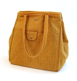 Sienna Herringbone Canvas Tote