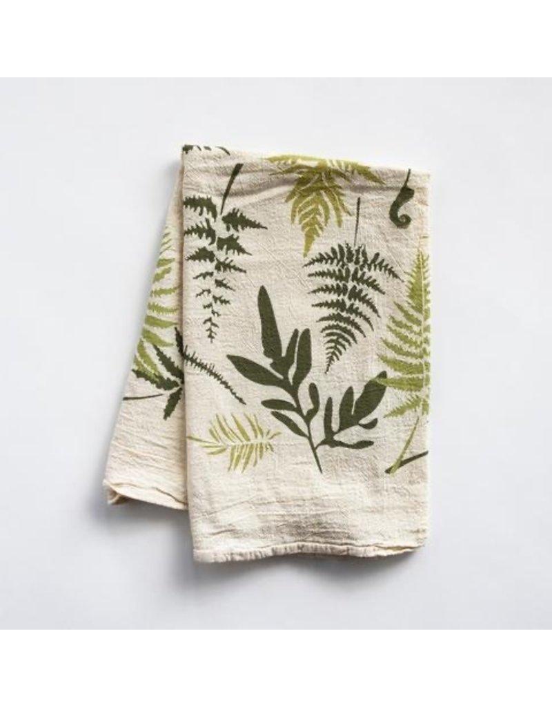 Endangered Ferns Tea Towel