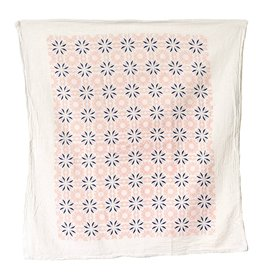 Vintage Pink Chicory Tea Towel