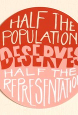 Half Representation Sticker