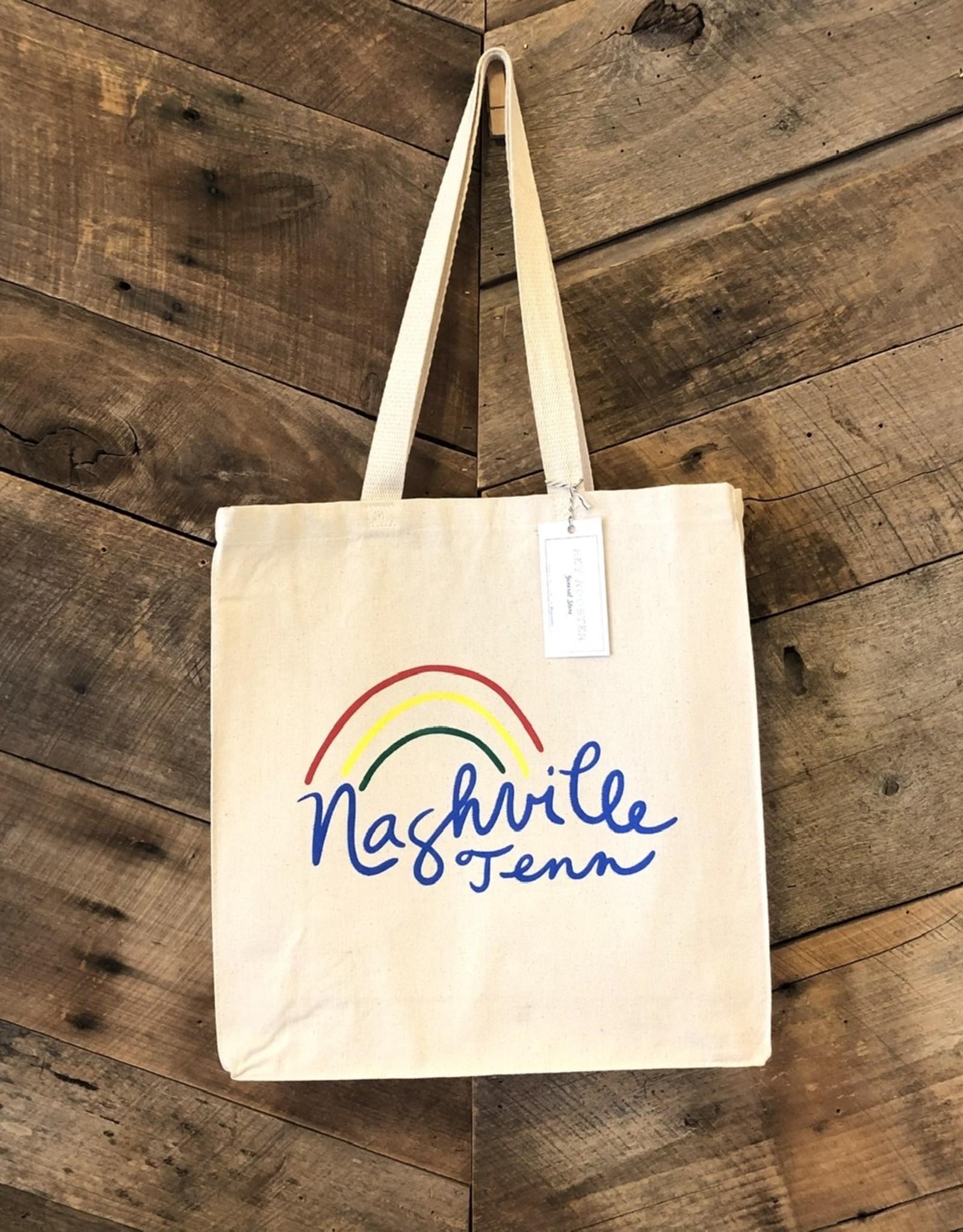 Natural Nashville Rainbow Tote