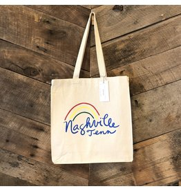 Natural Nashville Rainbow Tote