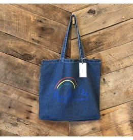Denim Nashville Rainbow Tote