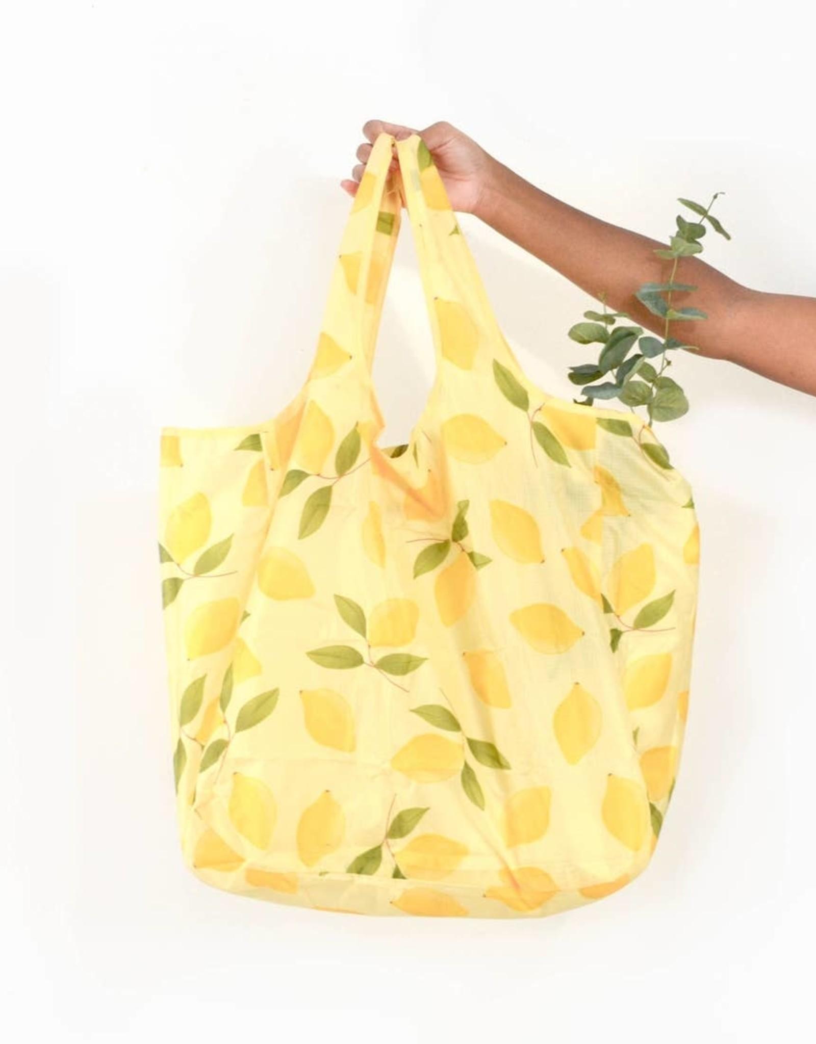 Large Lemon Nylon Tote