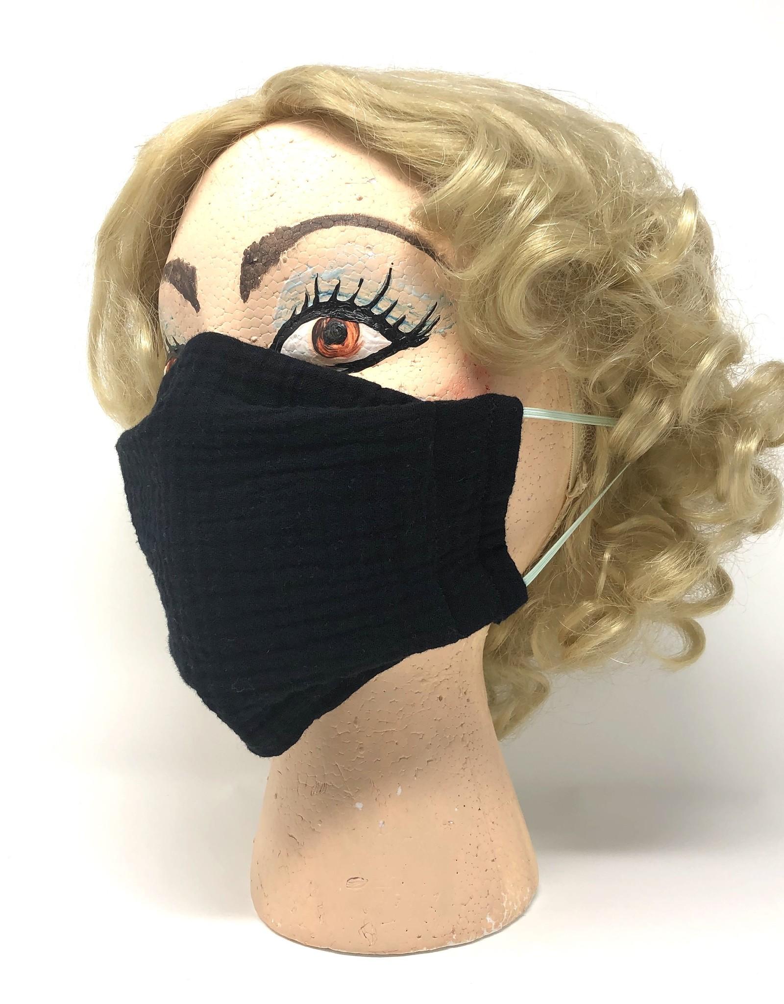 Adult DYO Black Gauze Mask