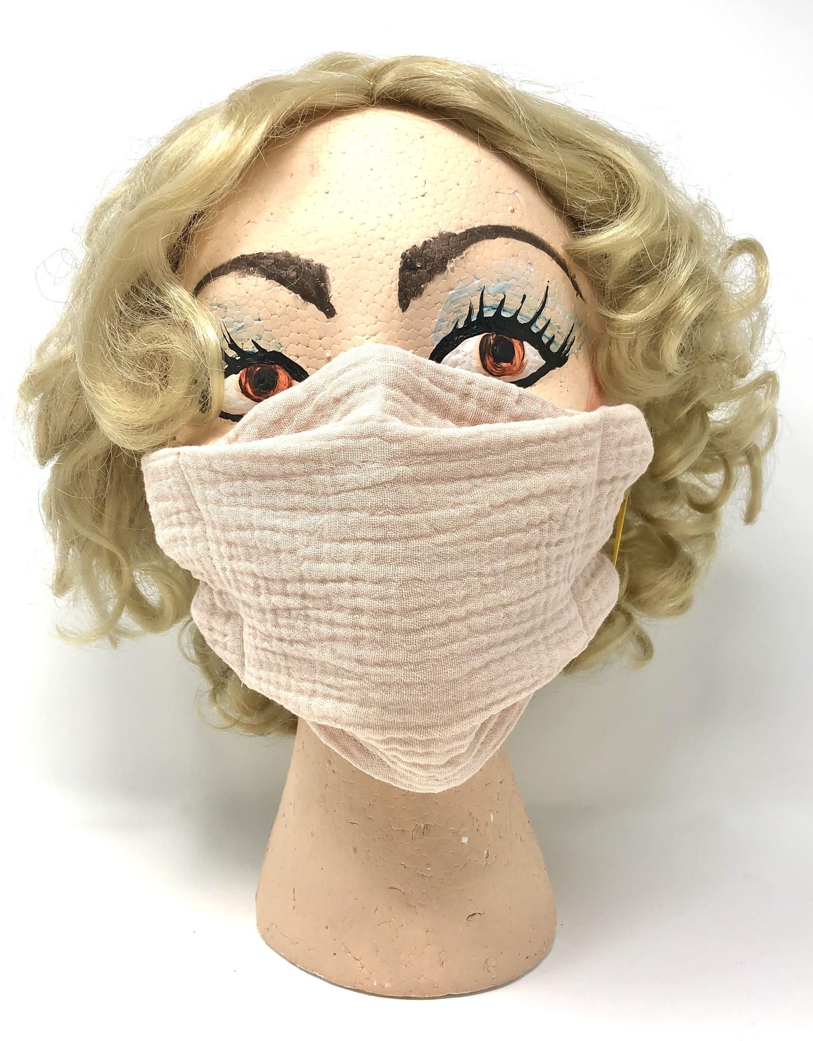 Adult DYO Blush Pink Gauze Mask
