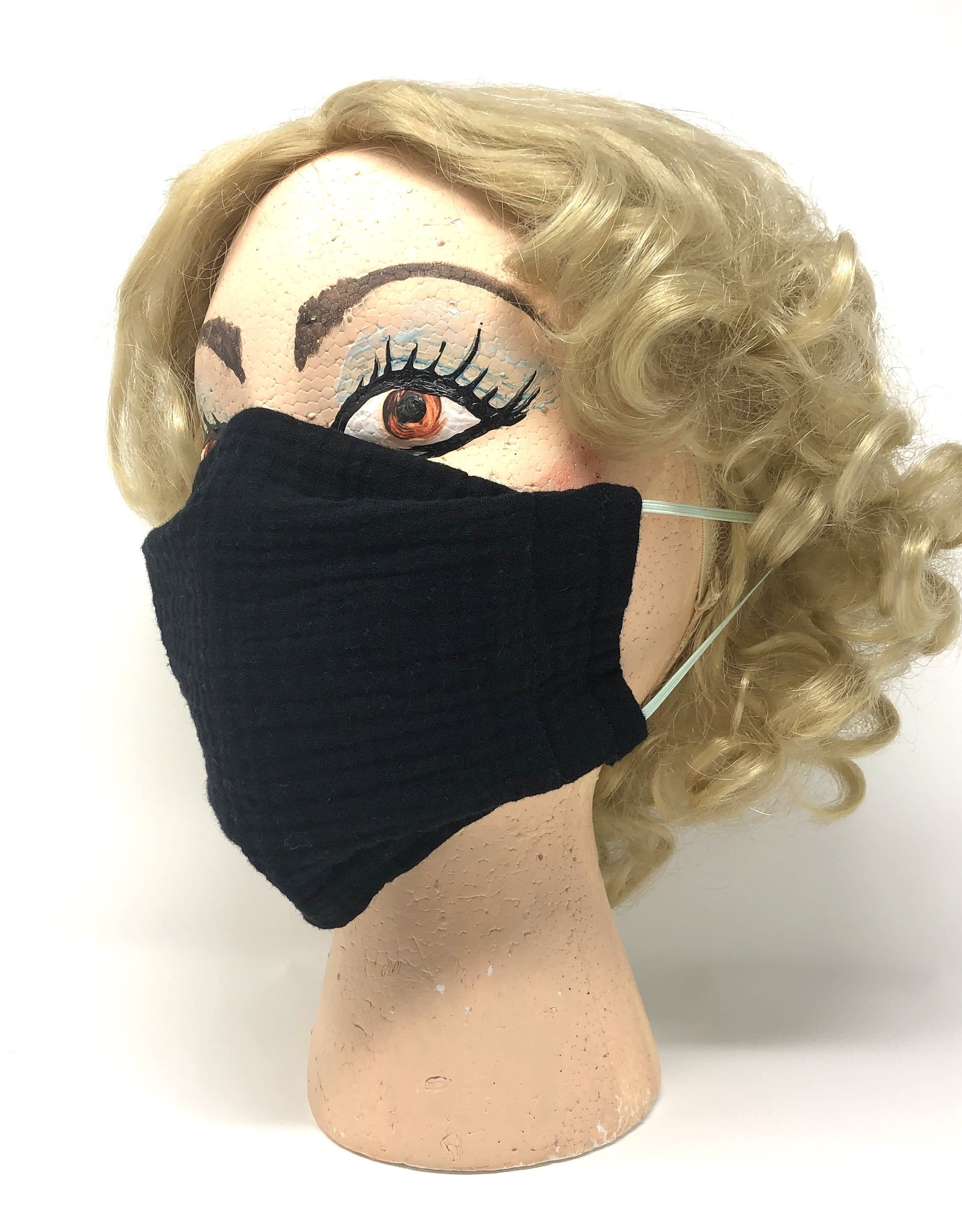 Child DYO Black Gauze Mask