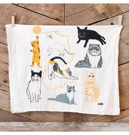 Cats Tea Towel