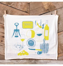 Wine & Cheese Tea Towel