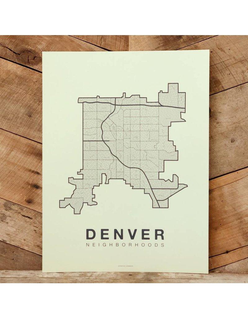 Denver Neighborhood Map - Hey Rooster General Store on