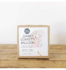 Rainbow Jumbo Confetti Balloon
