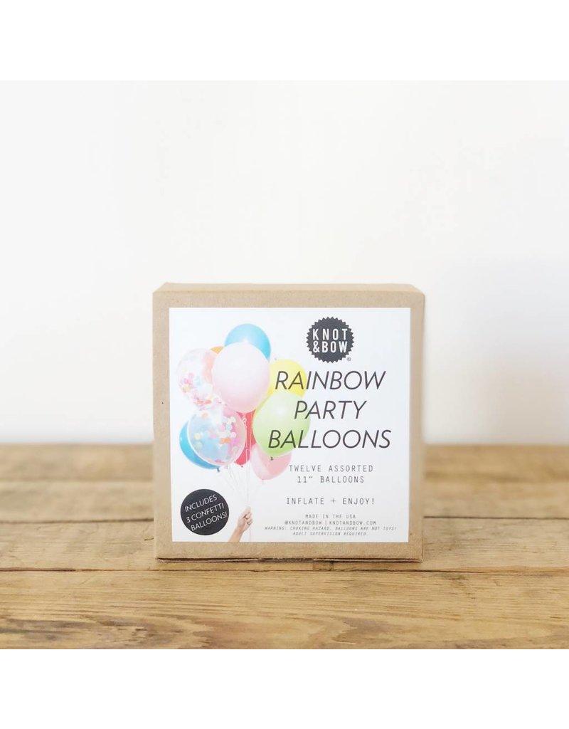 Rainbow Party Balloons