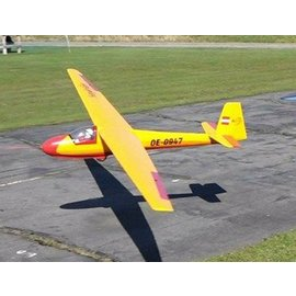 Seagull Models KA8B Sailplane 3M Yellow ARF