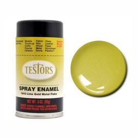 Testors Spray 3oz Lime Gold Metal Flak